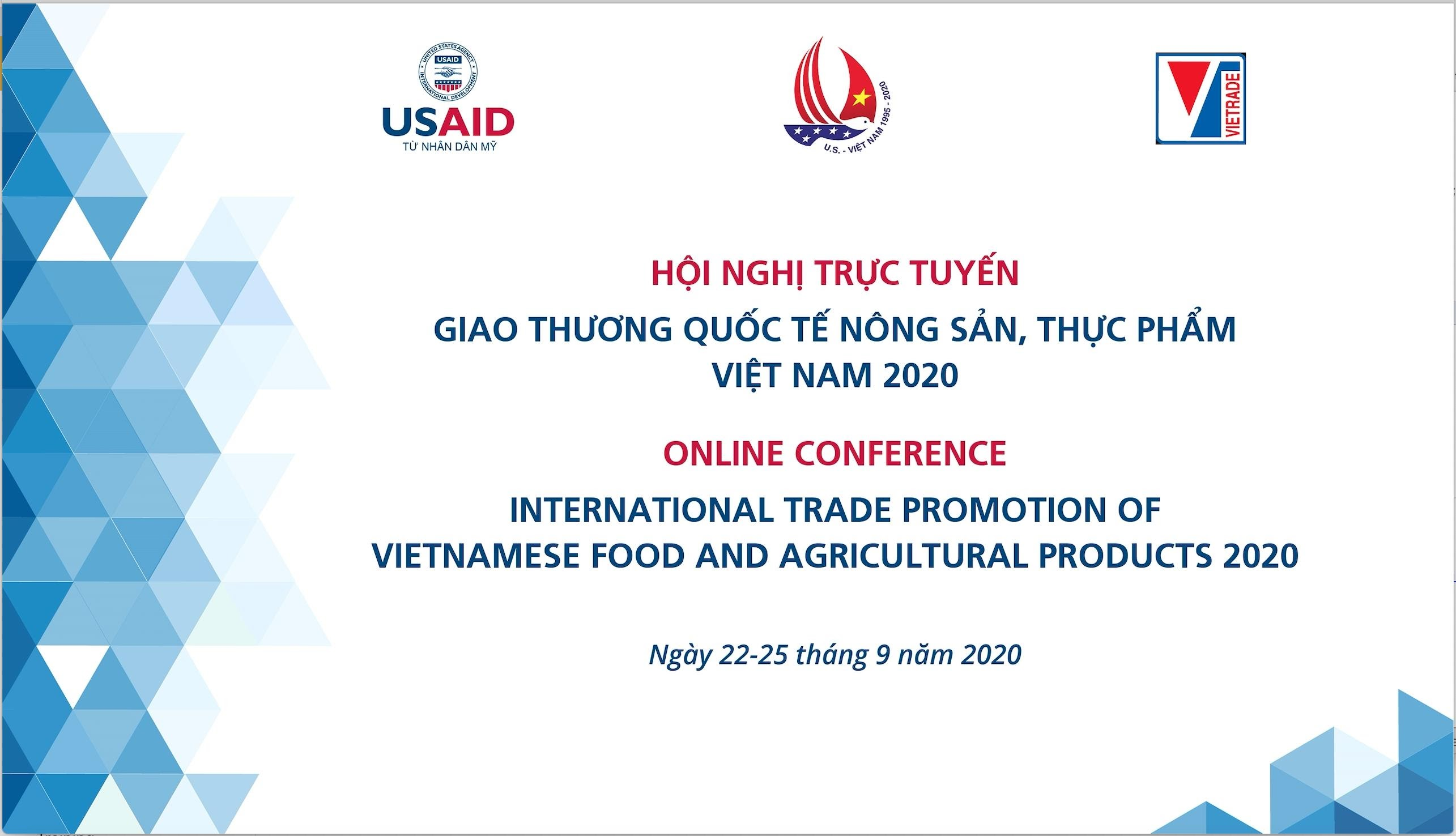 "Registration for ""Vietnam International Business Networking Webinar on Agricultural and Food products 2020"""